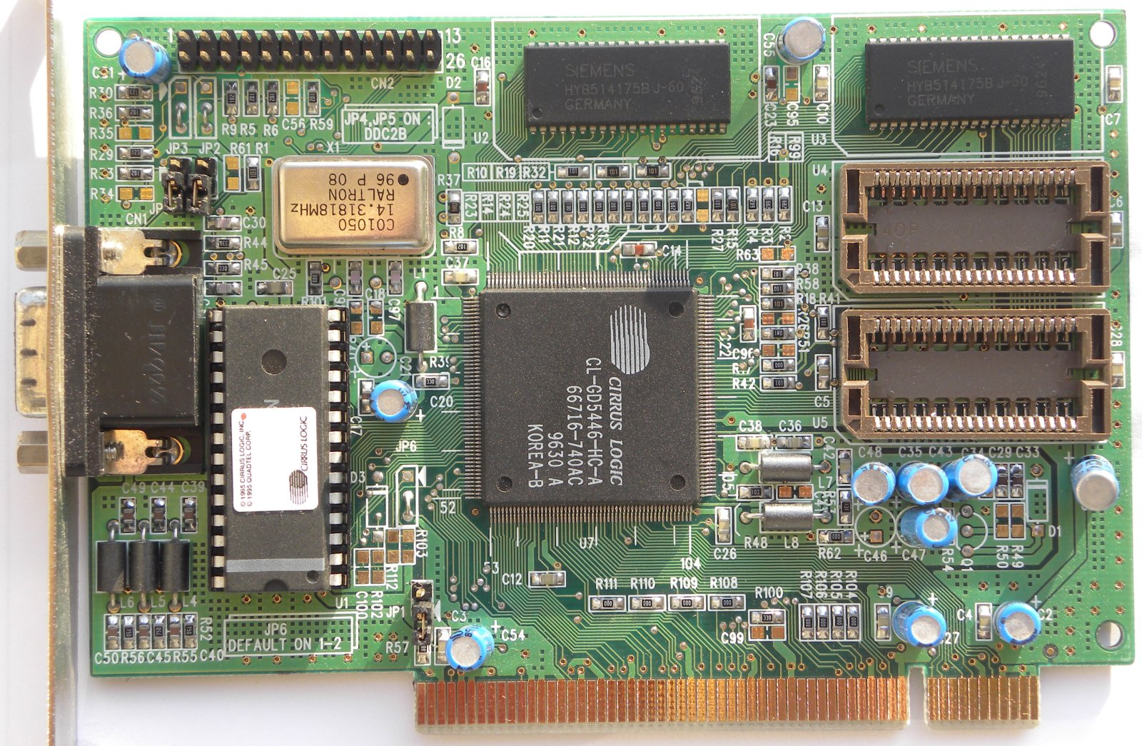 PCI VGA CIRRUS LOGIC CL-GD5446-HC CIRRUS LOGIC